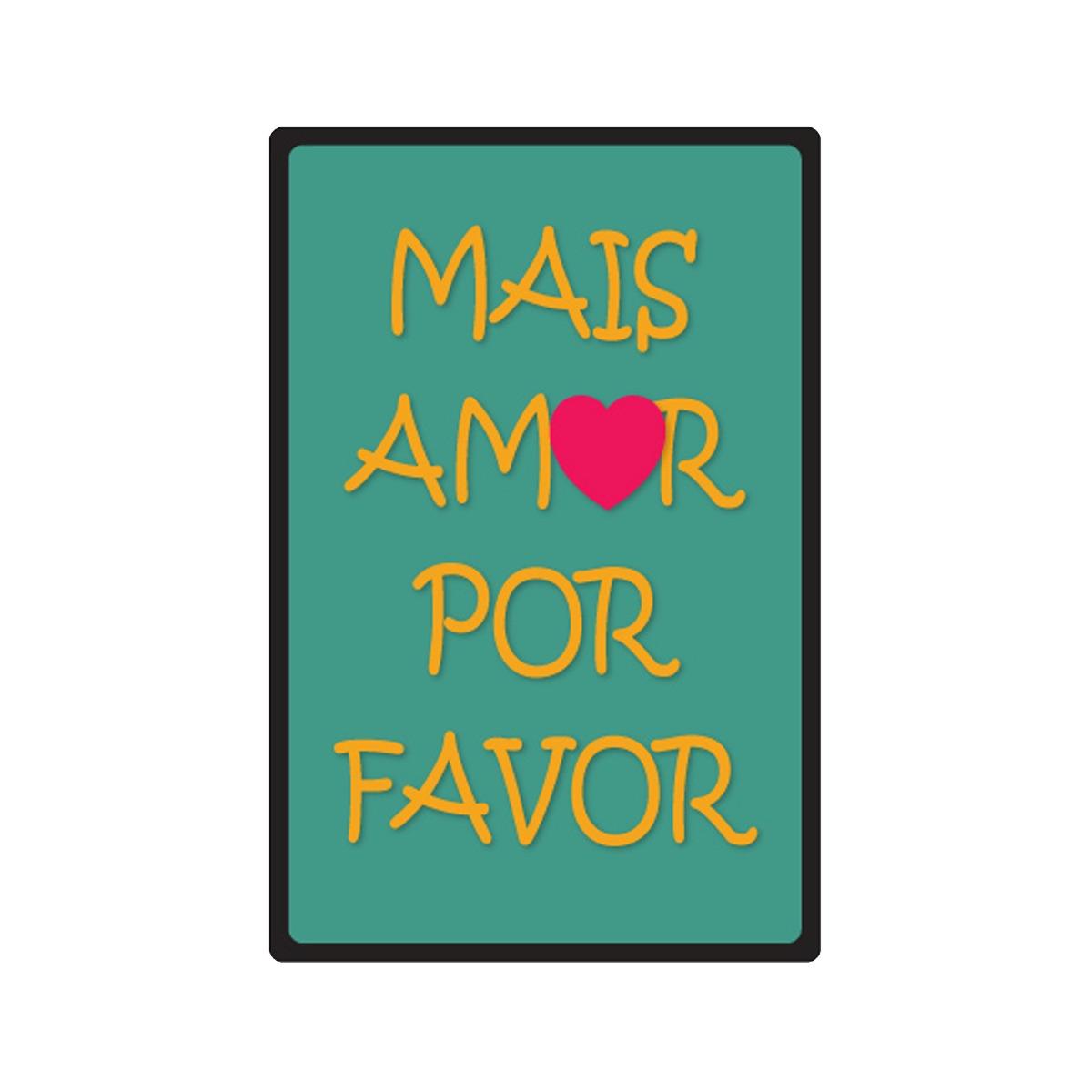 Quadro Decorativo Mdf Frases Mais Amor Humor Por Favor Corte R 6