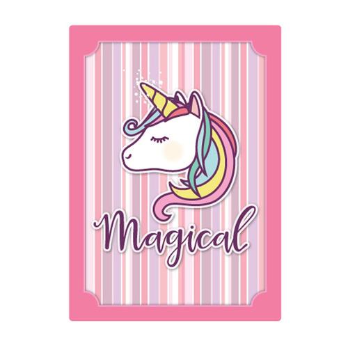 quadro decorativo mdf parede infantil unicornio 3d bebe 5339