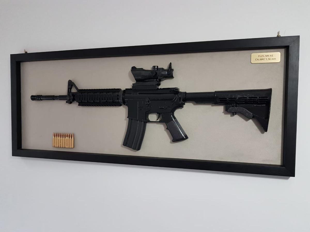 8f22050efed quadro decorativo modelo fuzil m4 réplica. Carregando zoom.