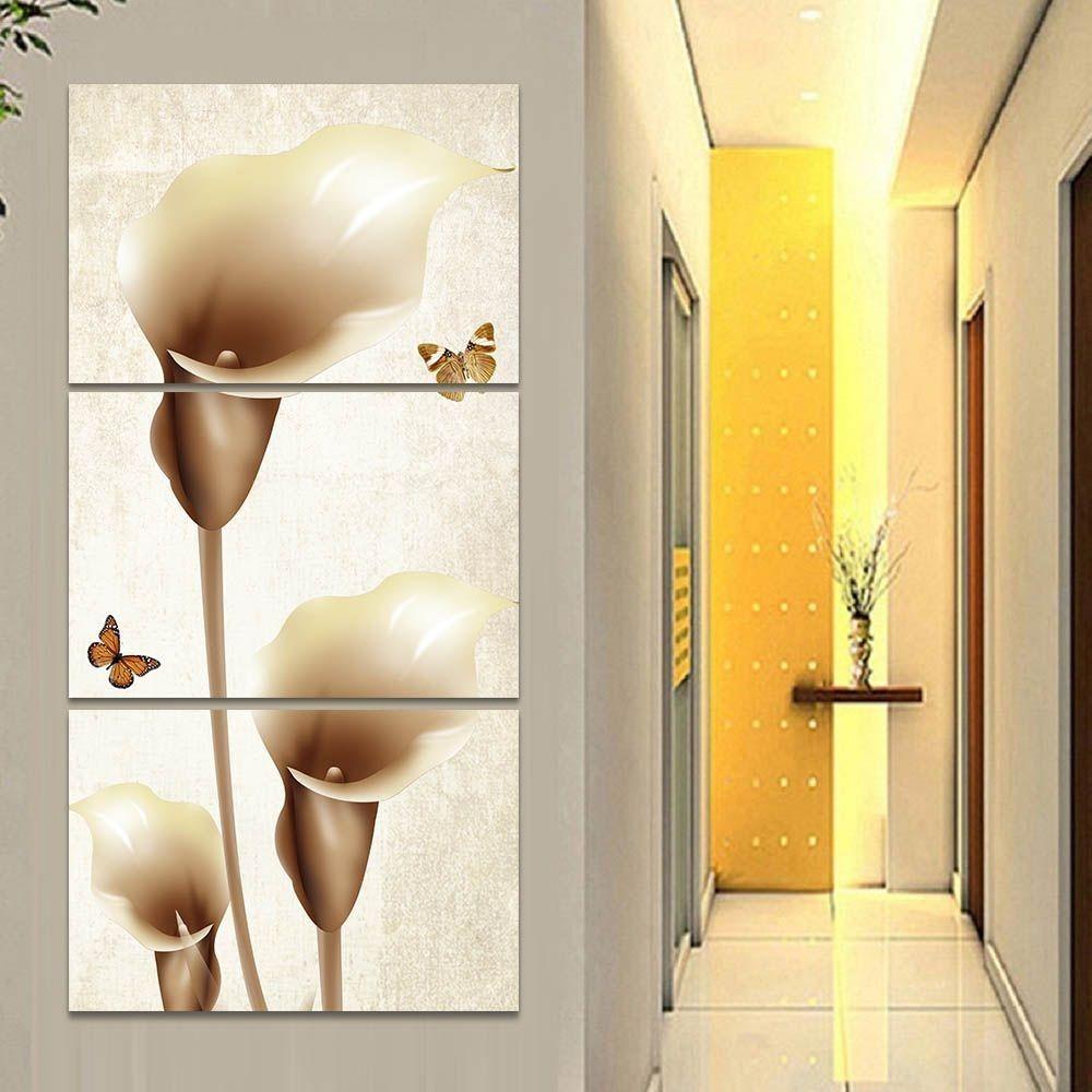 Quadro Decorativo Mosaico 60x120 Flor Copo De Leite Sala