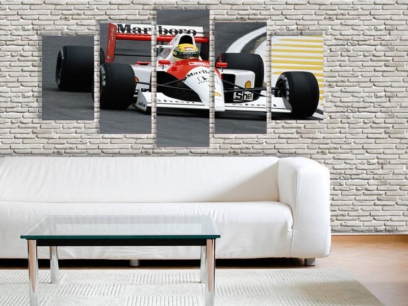 cf921fcee quadro decorativo mosaico luxo ayrton senna carro 70x162. Carregando zoom.