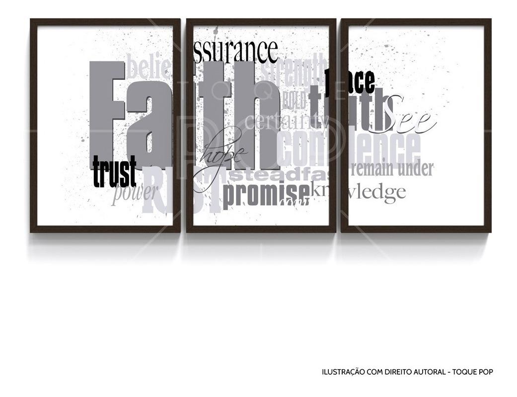 Quadro Decorativo Palavras Motivacional Deus Fé Modelo 1