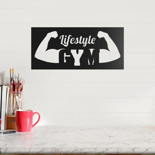quadro decorativo parede academia lifestyle gym 40cm