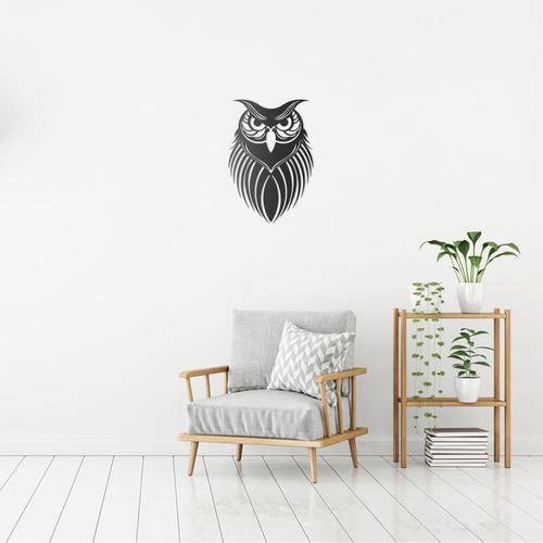 quadro decorativo parede animal coruja 60cm