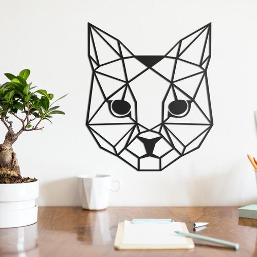 quadro decorativo parede animal gato minimalista 01 30cm