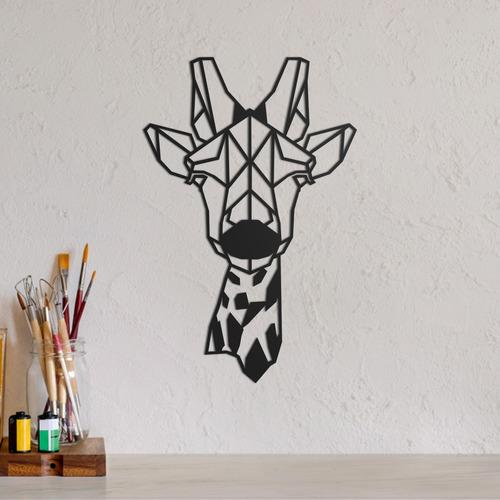 quadro decorativo parede animal girafa minimalista 02 30cm