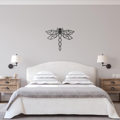 quadro decorativo parede animal libélula minimalista 60cm