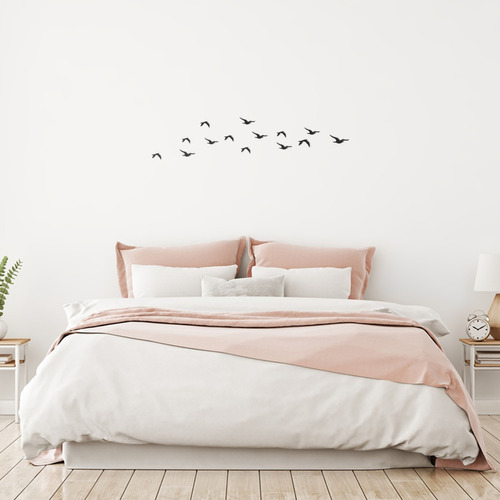 quadro decorativo parede animal pássaros 03 90cm