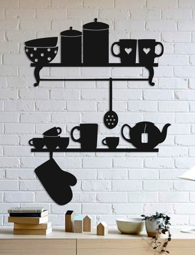 quadro decorativo parede cozinha utensílios 60cm
