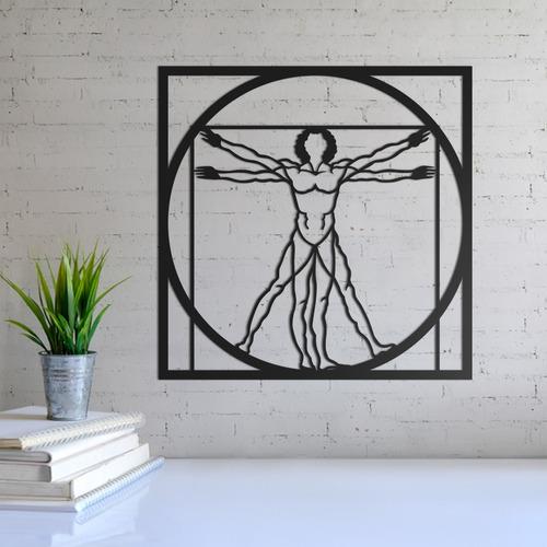 quadro decorativo parede diversos homem vitruviano 30cm