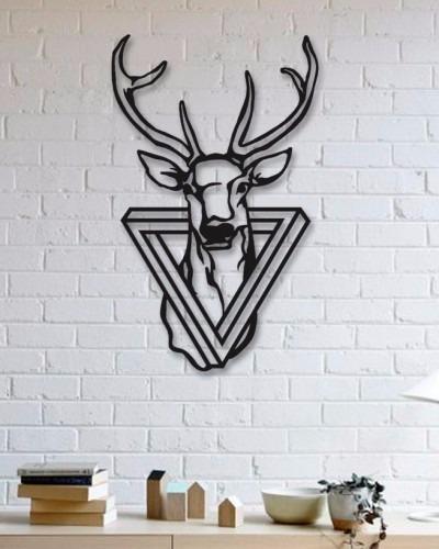 quadro decorativo parede escultura placa alce 1 30cm