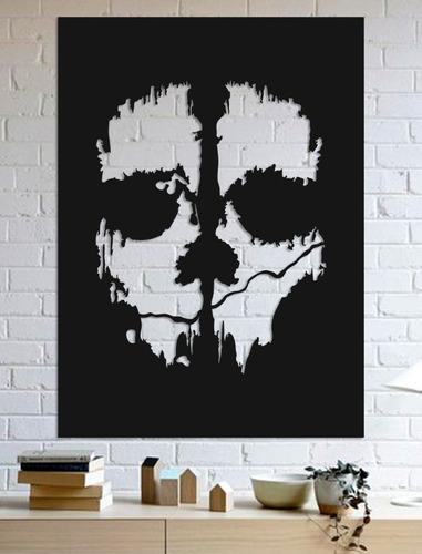 quadro decorativo parede jogos call of duty: ghosts 60cm