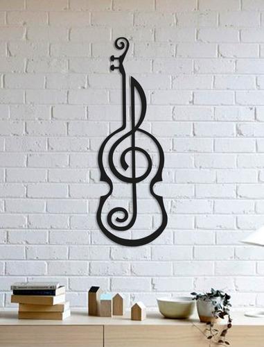 quadro decorativo parede música violino artístico 90cm