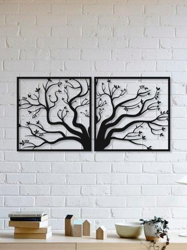 quadro decorativo parede natureza jogo árvore 90cm