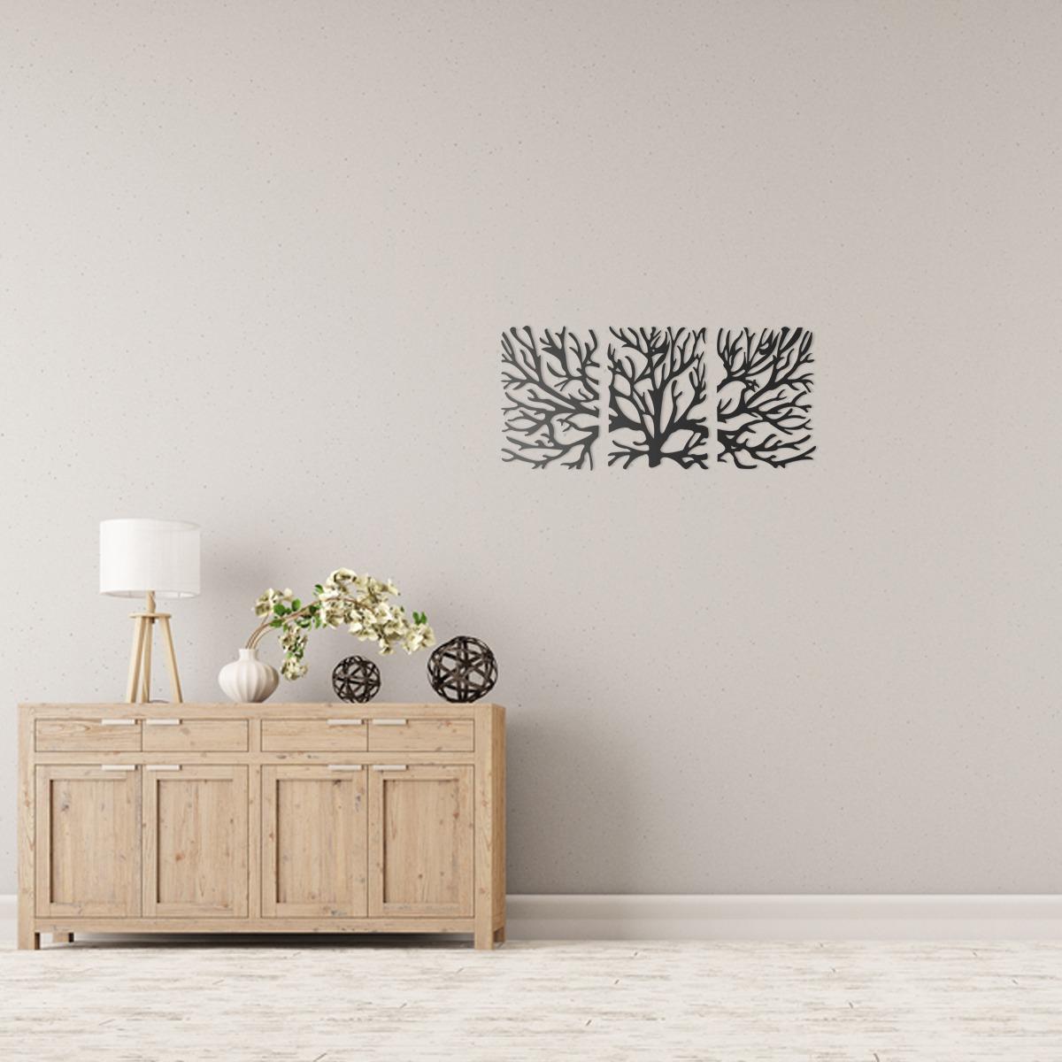 Quadro Decorativo Parede Natureza Trio Galhos Secos 60cm R 249