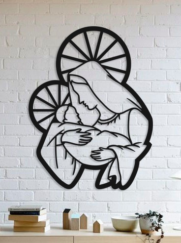 quadro decorativo parede religião nossa senhora 03 90cm