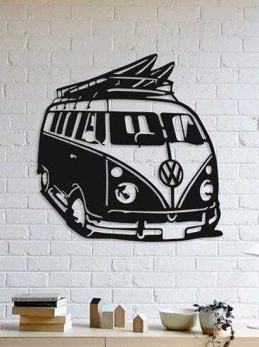 quadro decorativo parede veículos vw kombi 90cm