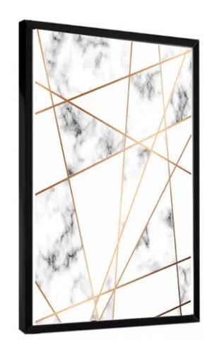 quadro decorativo peça mármore tons neutros sala casa quarto