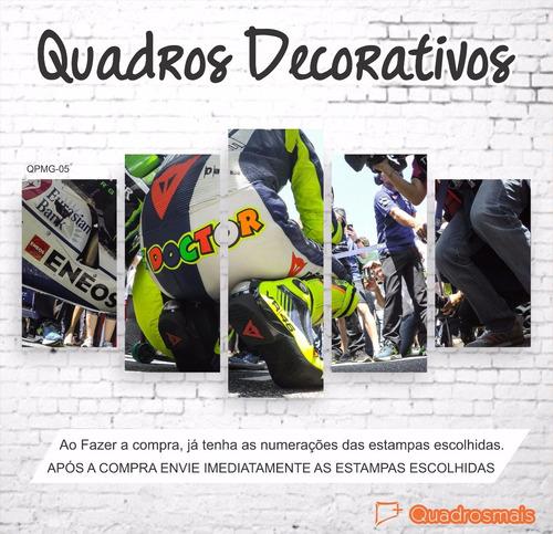 quadro decorativo piloto brasileiro moto gp 46 2,0x1,0 5g
