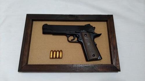 quadro decorativo pistola 1911