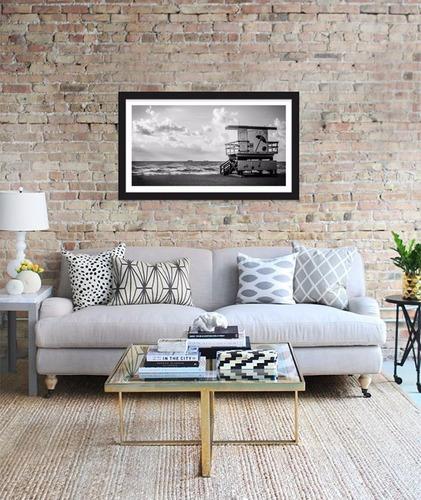 quadro decorativo praia estados unidos miami - 100x60cm