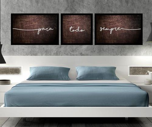 quadro decorativo quarto de casal para todo sempre marrom