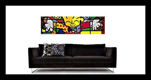quadro decorativo-releitura romero britto com moldura