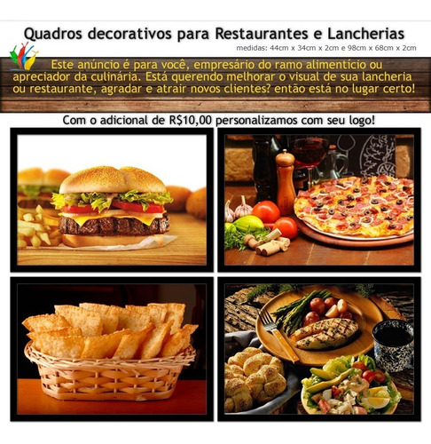 quadro decorativo restaurantes culinária pizzaria cozinha