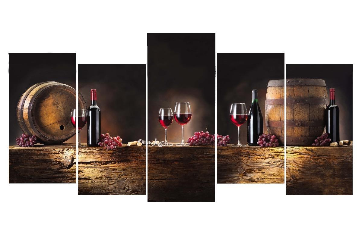 Quadro Decorativo Sala Cozinha Gourmet Vinho Wine Grande R 80