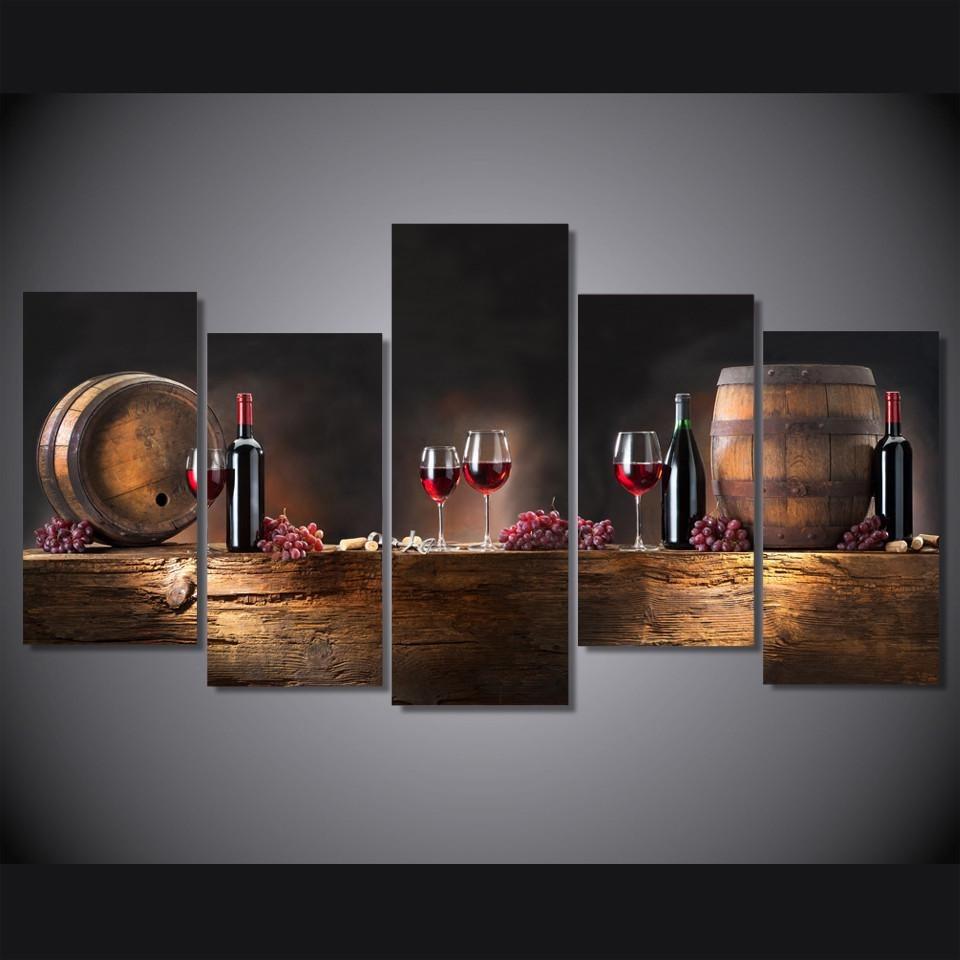 Quadro Decorativo Sala Cozinha Gourmet Vinho Wine Grande R 110
