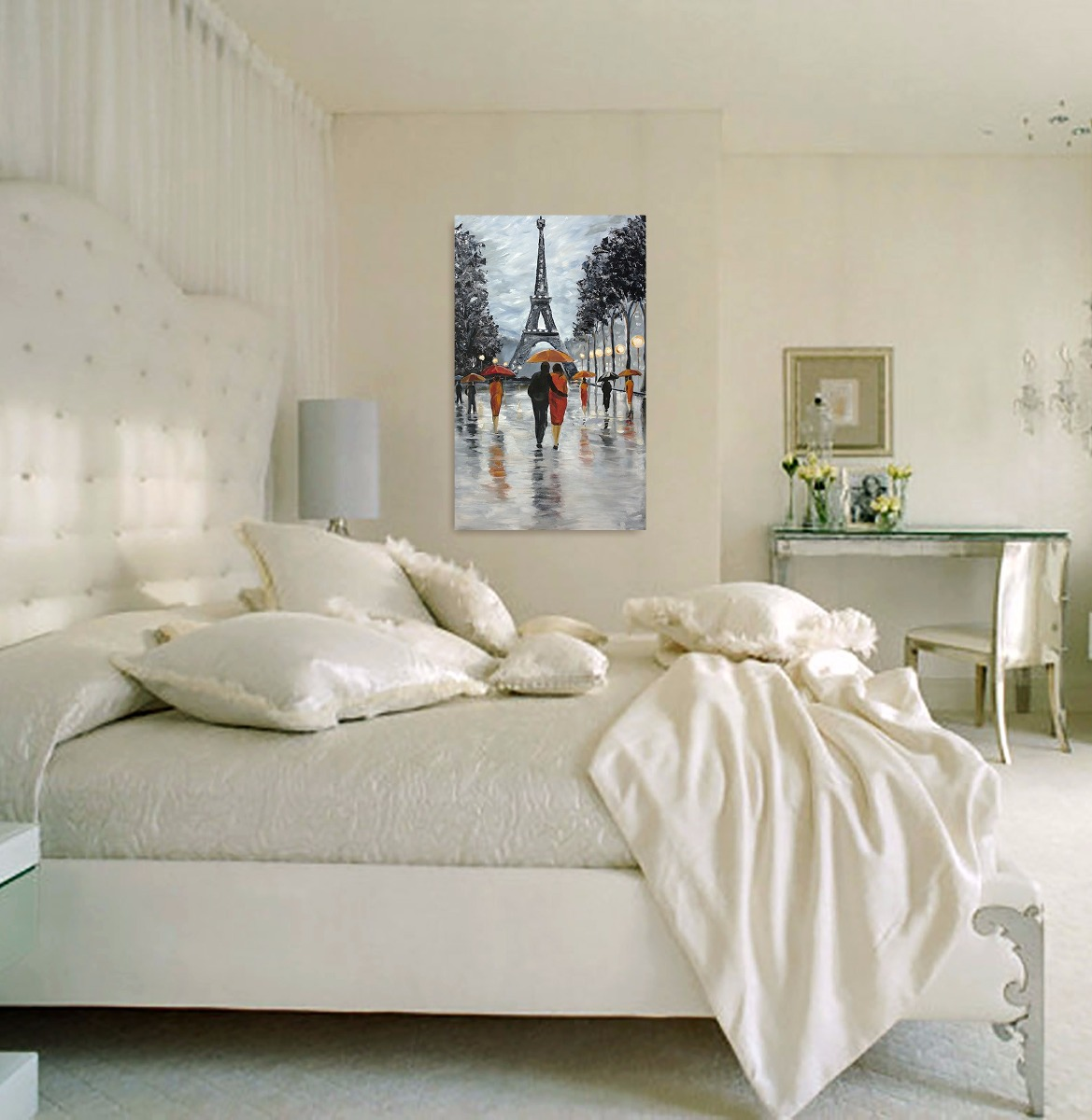 Quadro Decorativo Sala Quarto Tela Casal Paris Promo O R 169  ~ Cores De Tinta Para Quarto De Casal