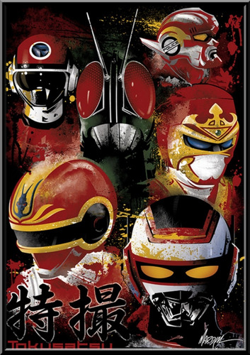 quadro decorativo tokusatsu jaspion jiraya changeman kamen