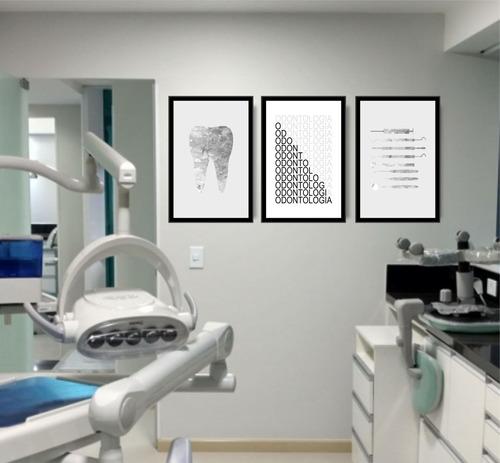 quadro dentista odontologia consultório odontológico lindo