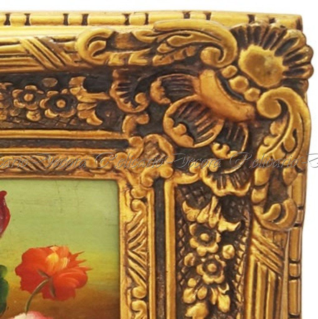 Compre Armário Classic Líder Design Vermelho: Quadro Design Classico Oleo Sobre Madeira Flores