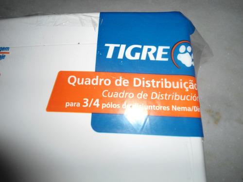 quadro distribuição embutir 3/4 disjuntores tigre br