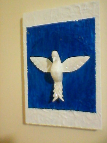 quadro divino espírito santo - frete grátis