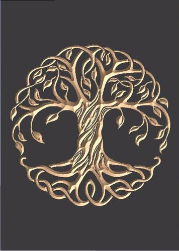 quadro entalhado em madeira - árvore da vida -p- esotérico