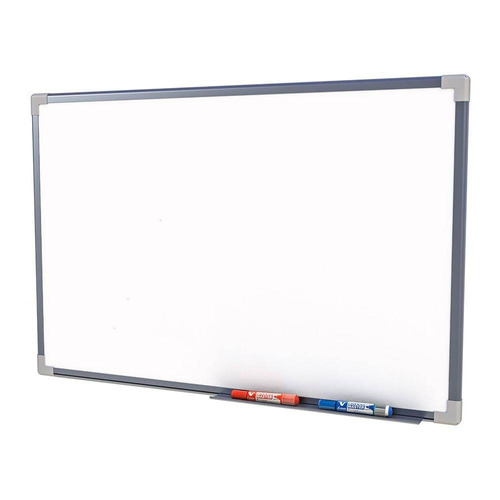 quadro escolar moldura alumínio 200x120 cm standard stalo