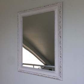 Quadro Espelho Provençal 55x72 Moldura De Madeira Tratada