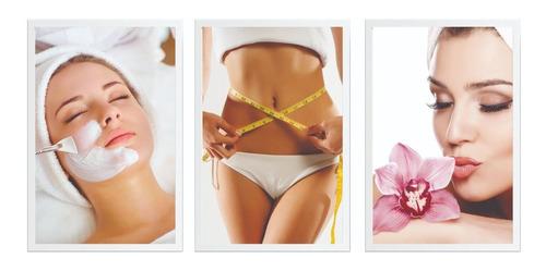 quadro estética facial e corporal recepção de spa clínica