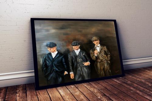 quadro estilo pintura oleo serie peaky blinders 42x29cm
