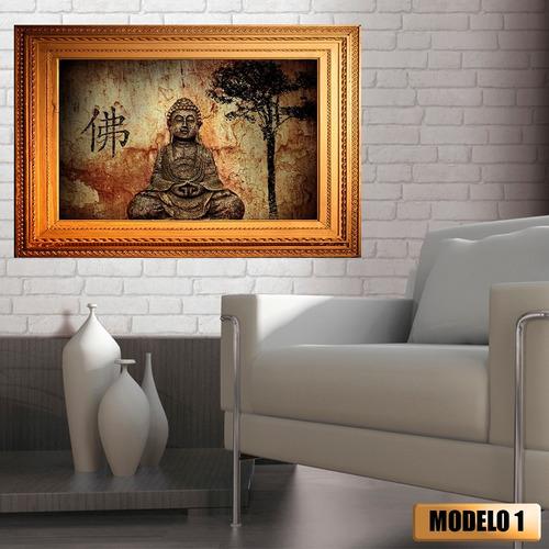quadro fake buda budismo adesivo tendência de decoração easy