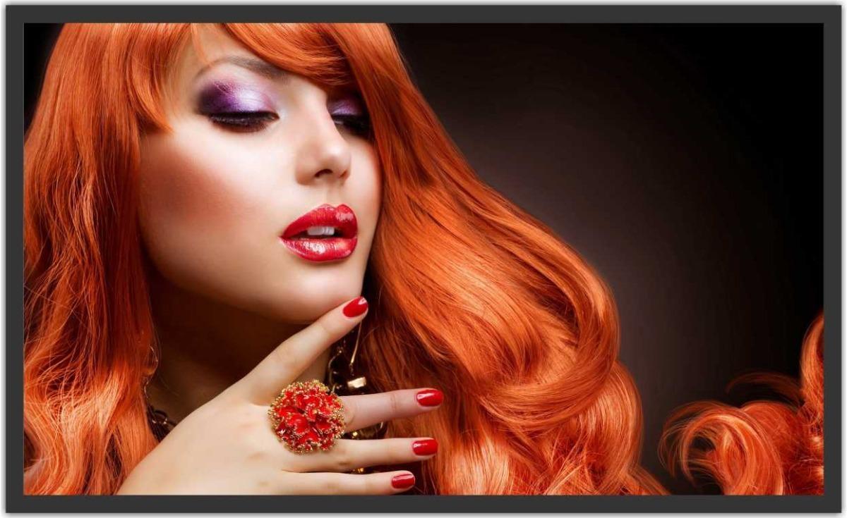 Quadro fashion hair makeup maquiagem beleza r em