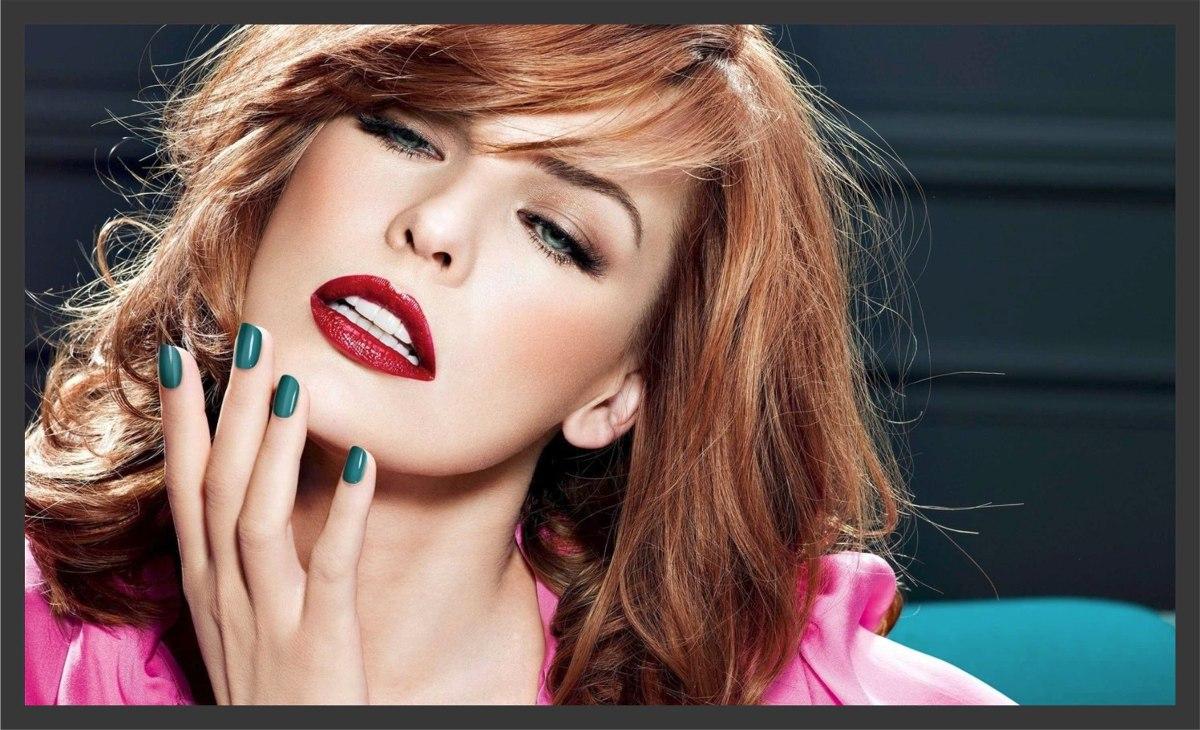 Quadro fashion hair makeup maquiagem beleza decoração r