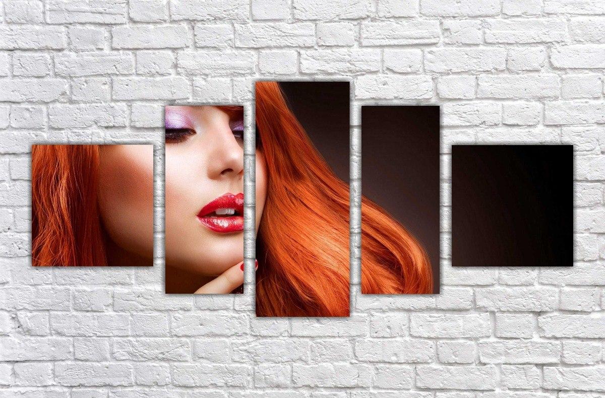 Quadro fashion hair makeup maquiagem salão de beleza cabelos r