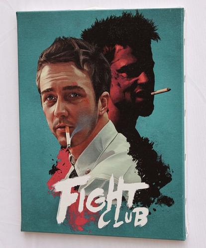 quadro fight club  impressão em canvas