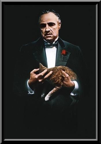 quadro filme o poderoso chefão the godfather 42x29cm