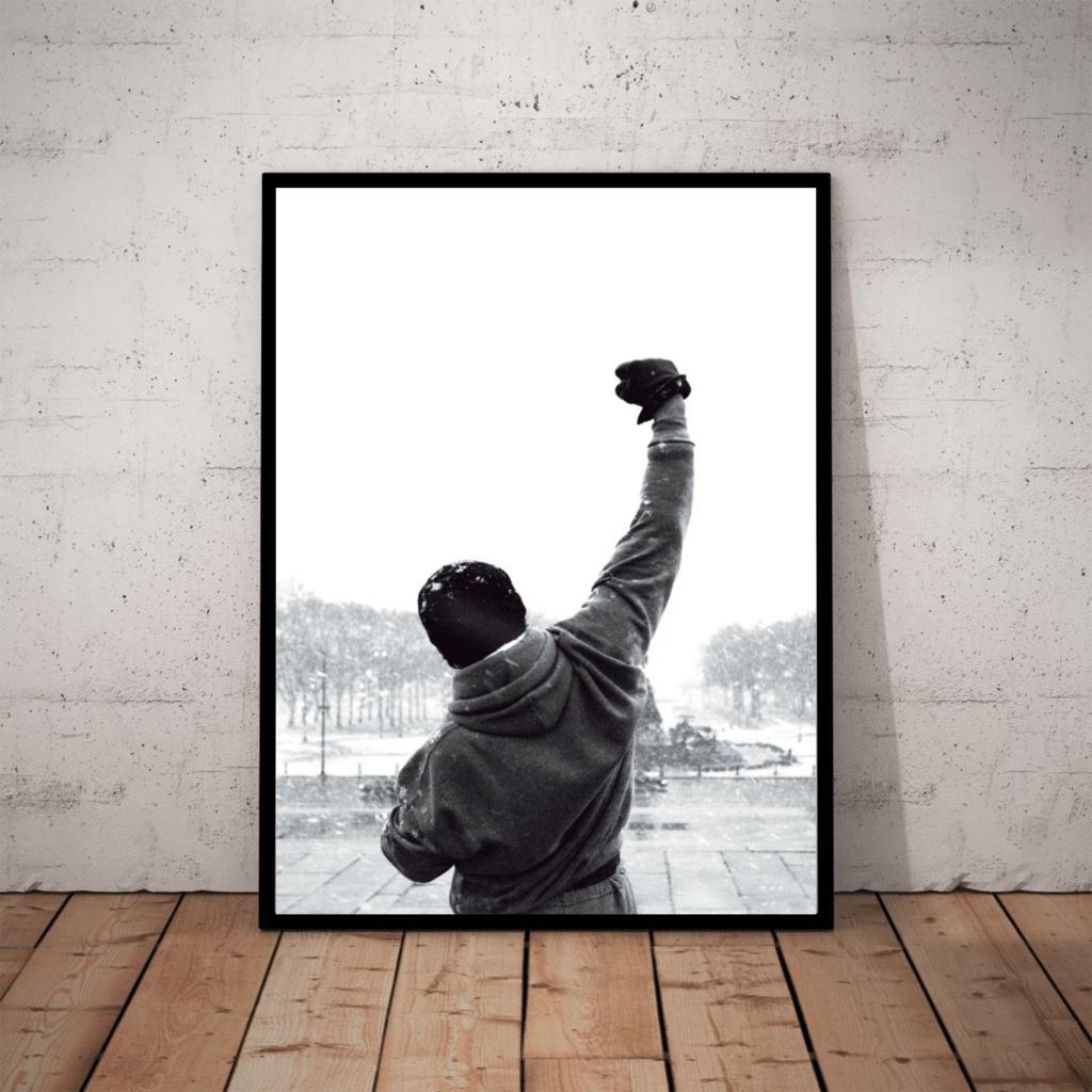 Quadro Filme Rocky Balboa Poster Sem Texto Com Moldura