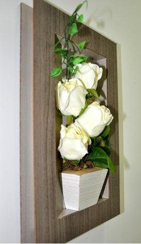 quadro flores decoração