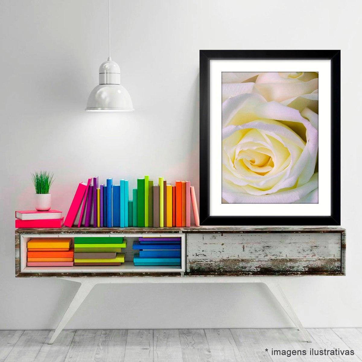 Quadro Flores Rosa Branca Jardim Moderno Cozinha Nac Decor R 75